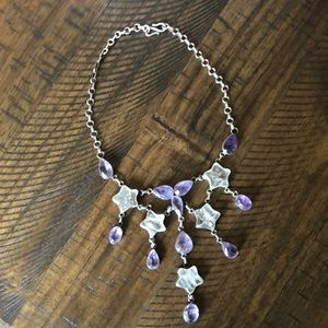 Jewelry - Sterling silver amethyst and quartz necklace